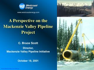 A Perspective on the Mackenzie Valley Pipeline Project