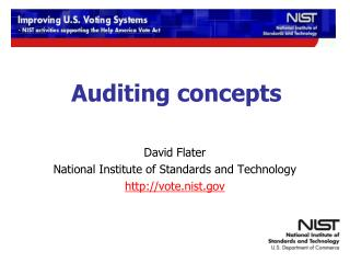 Auditing concepts