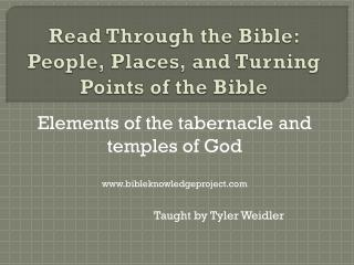 Read Through the Bible: People, Places, and Turning Points of the Bible