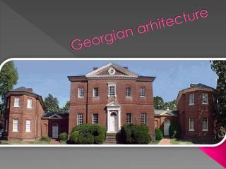 Georgian  arhitecture