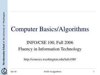 Computer Basics/Algorithms