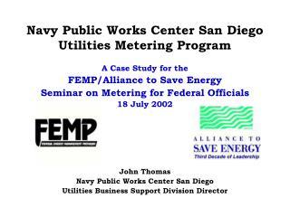Navy Public Works Center San Diego Utilities Metering Program