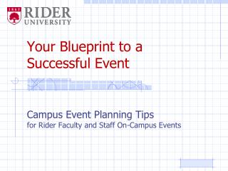 Your Blueprint to a  Successful Event