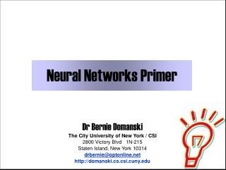 Neural Networks Primer