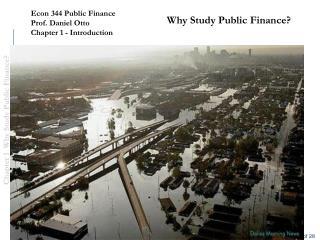 Why Study Public Finance?