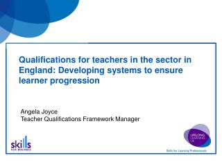 Qualifications for teachers in the sector in England: Developing systems to ensure learner progression