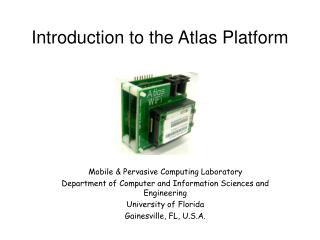 Introduction to the Atlas Platform