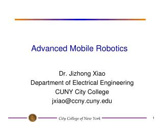 Advanced Mobile Robotics