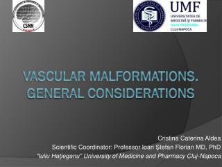 Vascular malformations. General considerations