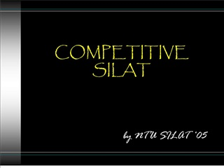 COMPETITIVE SILAT