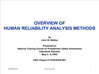 OVERVIEW OF HUMAN RELIABILITY ANALYSIS METHODS