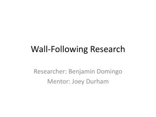Wall-Following Research