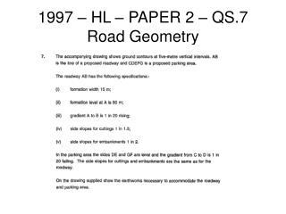 1997 – HL – PAPER 2 – QS.7 Road Geometry