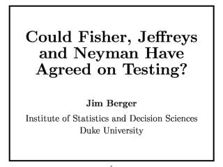 Could they have agreed on testing methodology?
