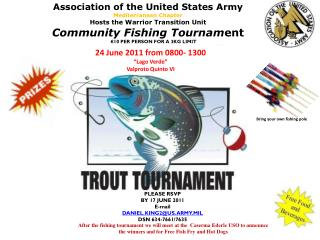 Association of the United  States Army Mediterranean Chapter Hosts  the Warrior Transition Unit Community Fishing Tourn