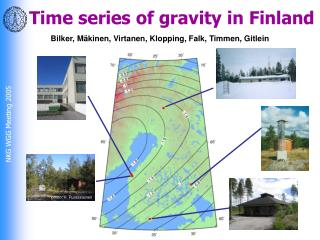 Time series of gravity in Finland