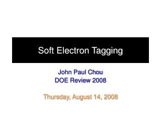 Soft Electron Tagging