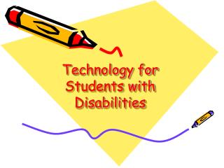 Technology for Students with Disabilities