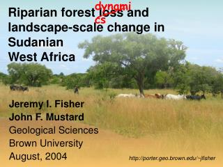 Riparian forest loss and landscape-scale change in Sudanian  West Africa