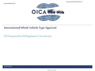 International Whole Vehicle Type Approval