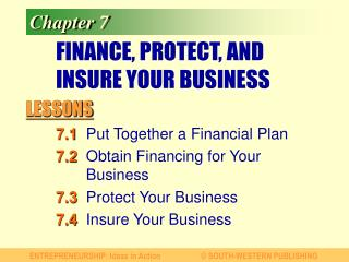 FINANCE, PROTECT, AND INSURE YOUR BUSINESS