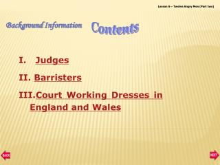 Judges Barristers Court Working Dresses in England and Wales