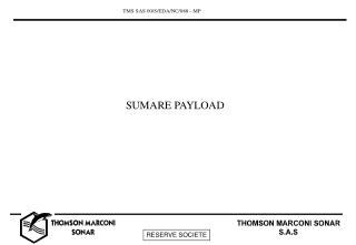 SUMARE PAYLOAD