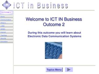 Welcome to ICT IN Business  Outcome 2