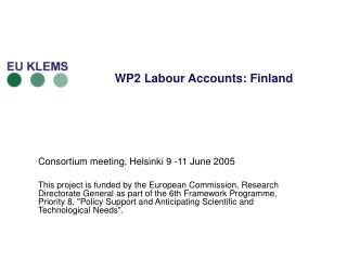 WP2 Labour Accounts: Finland