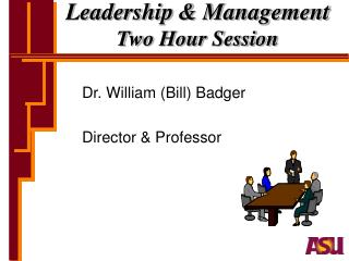 Leadership & Management Two Hour Session