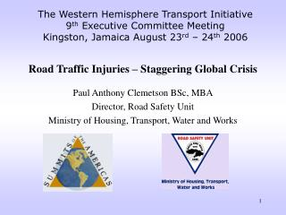 Road Traffic Injuries - Staggering Global Crisis