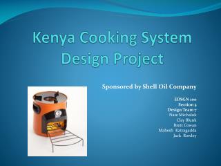 Kenya Cooking System Design Project