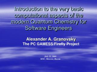 Introduction to the very basic computational aspects of the modern Quantum Chemistry for Software Engineers