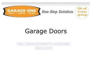 Garage Doors Service Toronto
