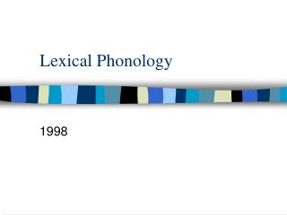 Lexical Phonology