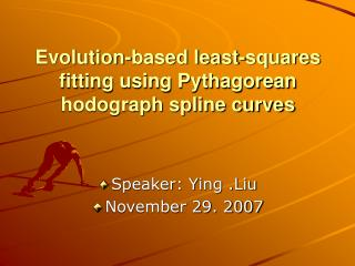 Evolution-based least-squares fitting using Pythagorean hodograph spline curves