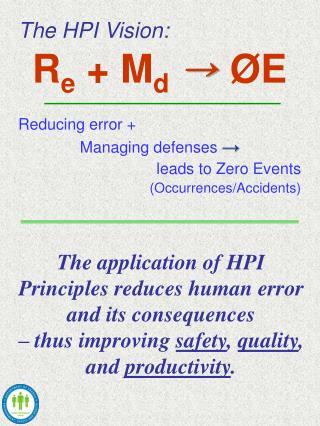 The HPI Vision: