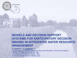 MODELS AND DECISION SUPPORT SYSTEMS FOR PARTICIPATORY DECISION MAKING IN INTEGRATED WATER RESOURCE MANAGEMENT