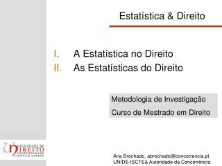 Estatística & Direito