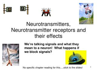 Neurotransmitters, Neurotransmitter receptors and their effects