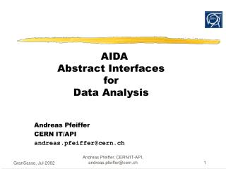AIDA Abstract Interfaces  for  Data Analysis
