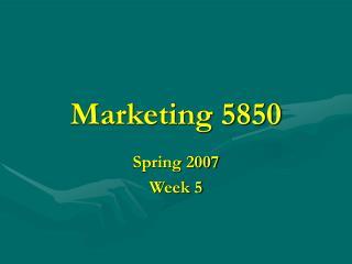 Marketing 5850