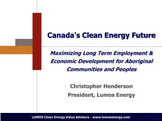 Canada's Clean Energy Future