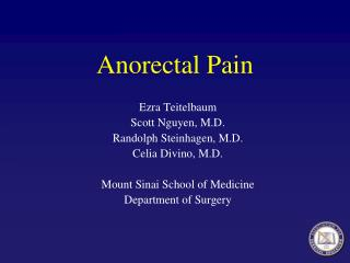 Anorectal Pain