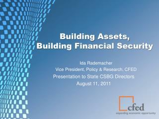 Building Assets,  Building Financial Security