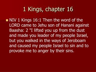 1 Kings, chapter 16