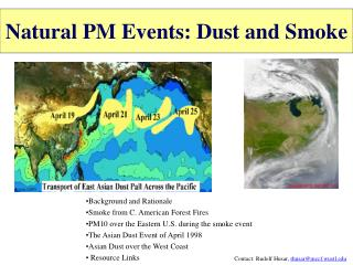 Natural PM Events: Dust and Smoke