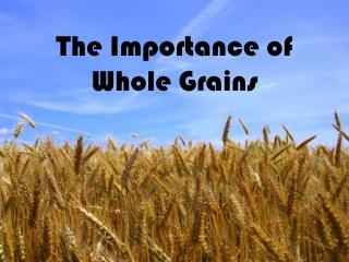 The Importance of Whole Grains