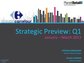 Strategic Preview: Q1