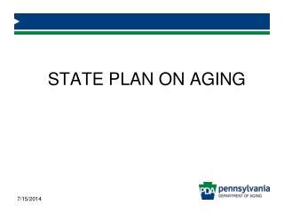STATE PLAN ON AGING
